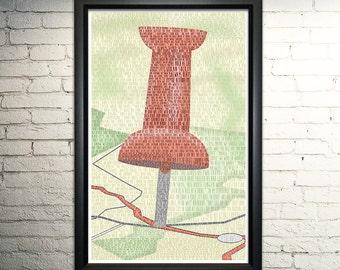 "Paper Towns word art print -11x17"""