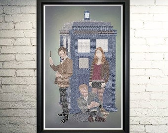 Doctor Who Poster, The Eleventh Doctor Art Print Doctor Who Quotes
