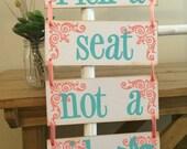 Pick A Seat Not A Side Wedding Sign. Wedding Decoration. Rustic Wedding Decor. Aisle Decor. Wedding Banner. Beach Wedding Decoration.
