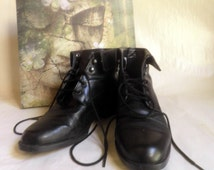 black Ankle BOOTS, Women's size 6.5 W