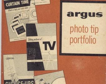 Argus 1950's Photo Tip Portfolio - Vintage Mid Century Camera Photography Manual