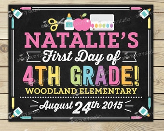 First Day of School Sign - First Day of School Chalkboard - 1st Day of School Sign - 1st Day of School Chalkboard Sign - Back to School Sign