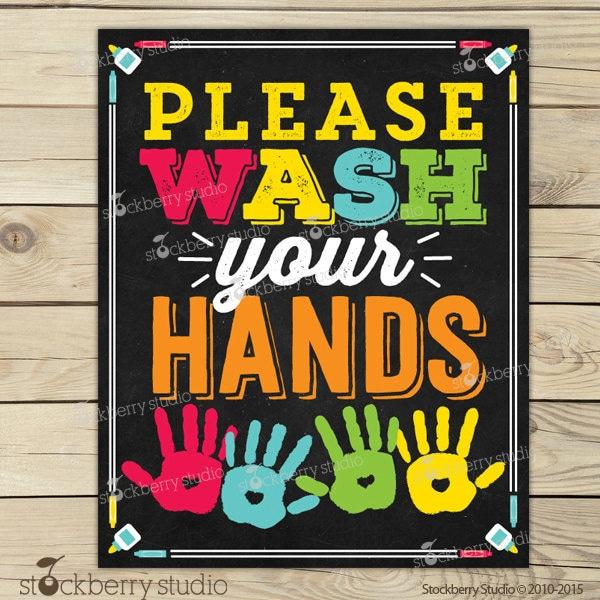 Bathroom Signs Wash Hands wash your hands sign printable kids bathroom art wash