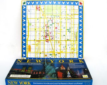 Vintage New York Board Game Street Map Graphics Monopoly Future Toys Real Estate Trump