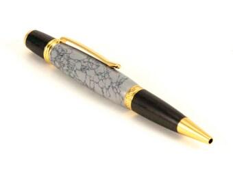 Gray Tru-stone Wall Street 2 / Sierra ball point pen