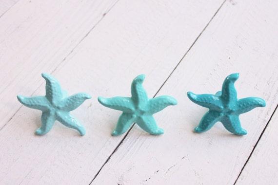 starfish decor starfish decoration starfish drawer knob