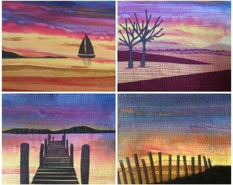 Sunset Skies Landscape Quilt Pattern (with optional fabric)