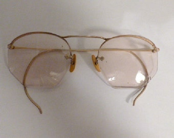 Vintage Wire Rim Glasses 1960s or earlier Great Shape
