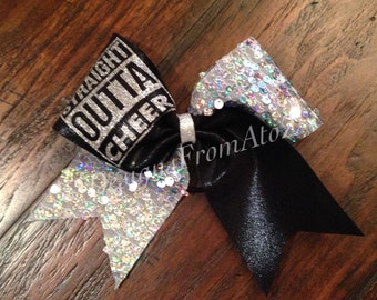 Straight Outta Cheer Bow