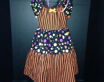 "Disney inspired, ""Not So Scary"" Halloween Boutique Peasant Dress"