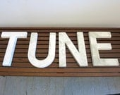 TUNE - Mid Century White Metal Letters