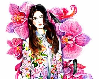 Fashion Illustration - Radiant Orchid