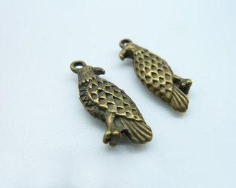 10pcs 5x9x24mm Antique Bronze Double Size Eagle Charm Pendant c979