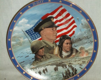 D-Day Plate, Limited Edition, World War II, Bradford Exchange