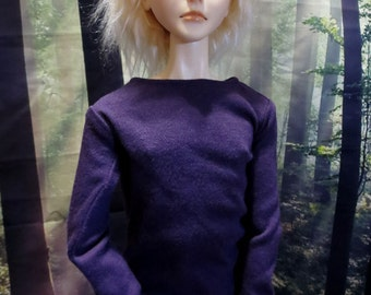 60cm BJD Long Sleeve Purple Shirt