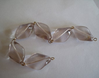 6-Pale Pink Glass Beads