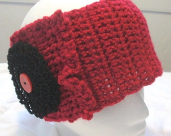 Hand Crocheted Headband / Ear Warmer (Adult Regular)