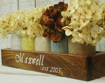 Personalized Farmhoue style kitchen and dining table centerpiece, personalized wedding gift, personalized gift, rustic, farmhouse kitchen
