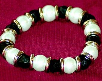 Sixties stretch beaded bracelet