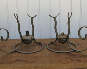 Vintage Brandy Warmer Stands  2