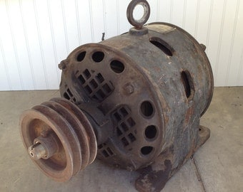 Antique Century Single Phase Motor 2 HP- Century Electric Co. 1903