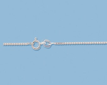 Sterling Silver 1.5 mm Box chain