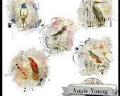Altered Art Mats #4 - Digital Art Supplies By Angie Young