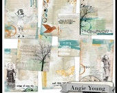 backgrounds, papers, printable, art journaling, scrapbooking, 8.5x11: Journal It Papers Set #6 - Digital Art Supplies By Angie Young