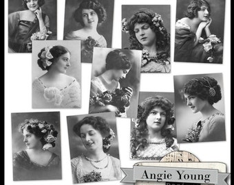 Vintage Photos #3 - Digital Art Supplies By Angie Young