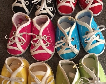 """Doll Tennis Shoes in 6 Different colors for 15 or 18"""" American Girl Doll"""