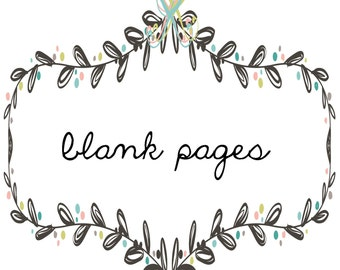 blank pages add-on page