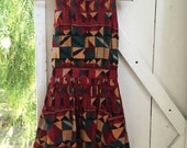 1970s vintage bohemian geometric pixie dress xs/s