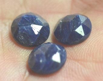 8mm Parcel of 3 Rose Cut Sapphire natural gemstones 6.95ct