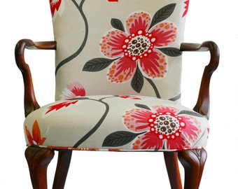 Upholstered Floral Armchair