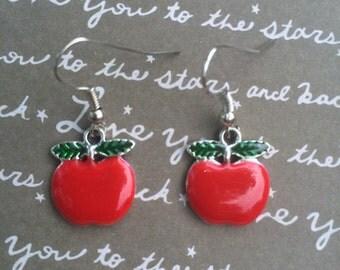 Gorgeous apple dangle earrings