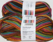 German self striping superwash sock yarn Hot Socks  color Grundl, color 400