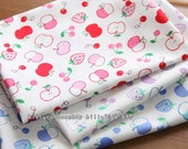 w260_45 - apple and strawberry fabrics - cotton ( 3 color to choose) in Half Yard