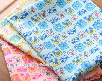 w297_45 - camera fabrics - cotton fabrics - ( 3 color to choose) in Half Yard