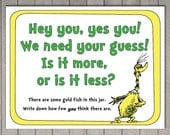 Dr. Seuss Game - How Many Goldfish