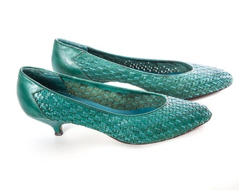 teal kitten heel – Etsy UK