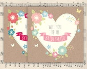 Will you be / Thanks for being my Bridesmaid / Maid of honour / Flower girl card