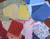 65 Quilt Fabric Scraps measure  2-1/2 Inch x 2-1/2 Inch Plus- Cotton Calico Quilting Scraps - Color Choice
