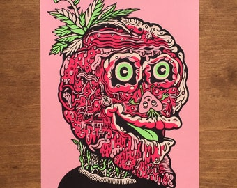 Strawberry Head Screen Print