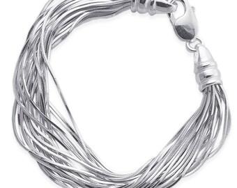 Go Go Multi-Strand 925 Sterling Silver Bracelet           CC-30021