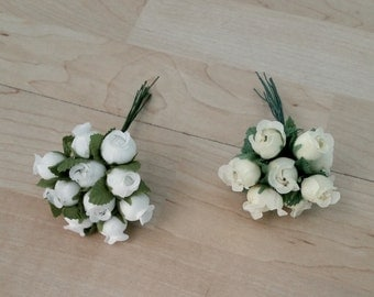 craft silk flower crown supplies -72- rosebuds Ivory Bridal favors DIY Wedding party flowers accessories millinery hair combs corsage Derby