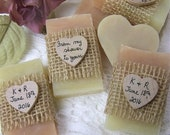 From my shower to yours - Blush soaps, bridal shower favors, mini soaps, organic, handmade, personalized, rustic. set of 30
