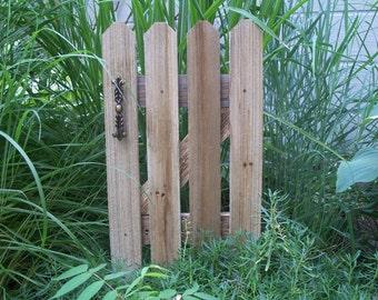 Rustic Garden Gate Decor, Cedar Fence Panel, Small Garden Gate Style Decor