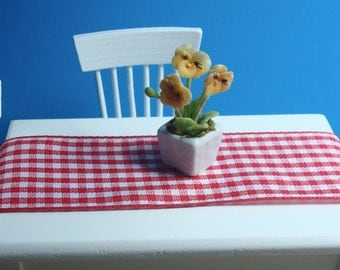 Potted Yellow Pansy for Dollhouse 12th