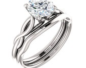 7mm Forever Brilliant Moissanite 14K White Gold Engagement Ring  ST233816 (Other metals & stone options available)