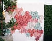 Geometric Photobooth Backdrop for Modern Weddings + Events